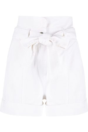 Twin-Set High-rise cotton shorts
