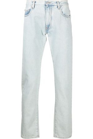 OFF-WHITE Diagonal stripe slim-fit jeans