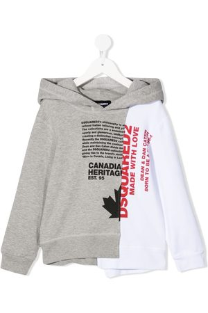 Dsquared2 Two-tone slogan-print hoodie