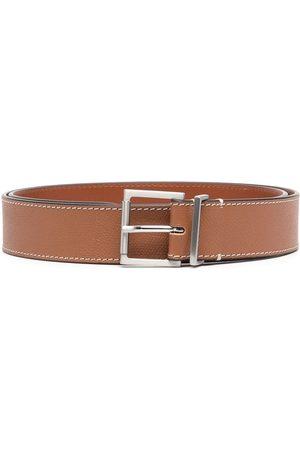 Maison Margiela Herren Gürtel - Buckle grained leather belt