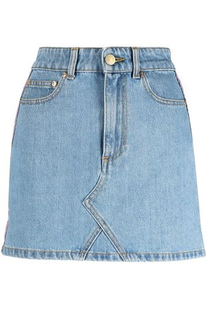 Chiara Ferragni Contrast-trim denim skirt