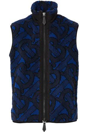 Burberry Damen Westen - Jacquard logo fleece gilet