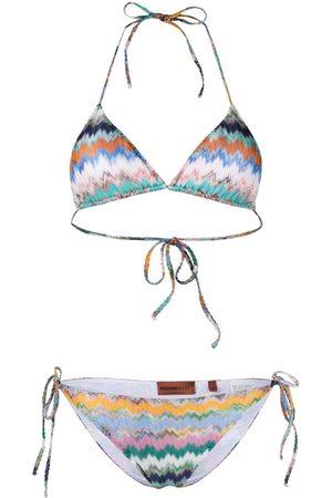 Missoni Damen Bikinis - Mare Light chevron-knit bikini set