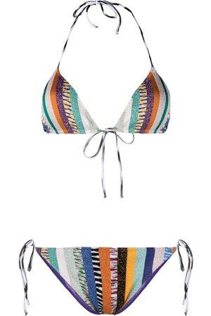 Missoni Metallic-stripe bikini