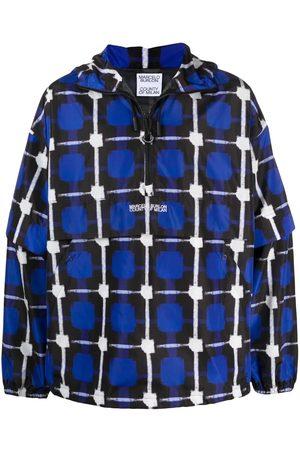 MARCELO BURLON Check raincoat jacket