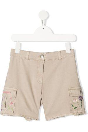 MONNALISA Embroidered cargo-pocket shorts