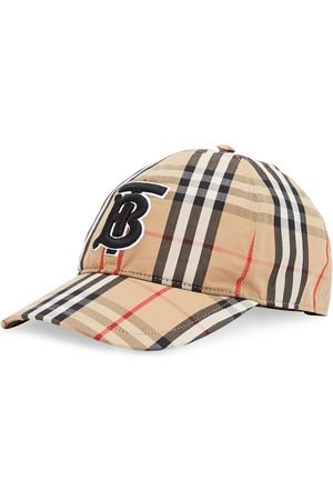 Burberry Embroidered monogram-motif cap