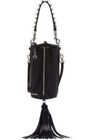 Miu Miu Embellished fringed shoulder bag