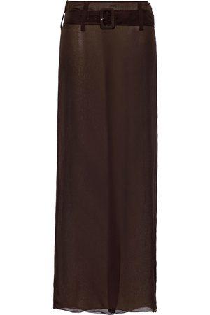 Prada Damen Maxiröcke - Chiffon belted maxi skirt