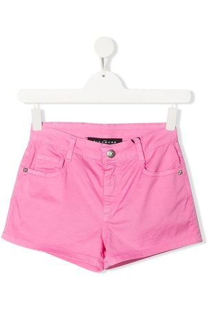 John Richmond Junior TEEN mid-rise denim shorts
