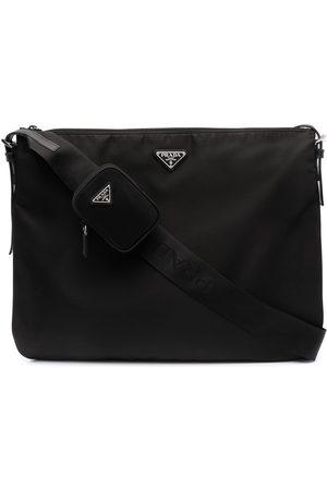 Prada Logo-plaque shoulder bag