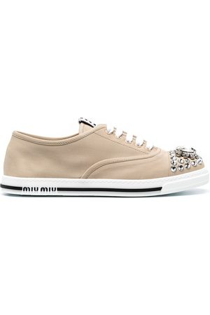 Miu Miu Crystal-embellished low-top sneakers