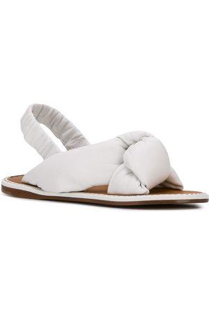 Miu Miu Damen Sandalen - Knot detail flat sandals