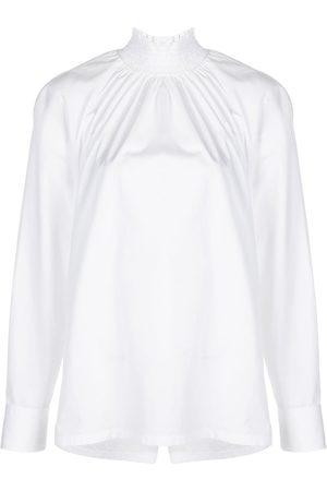 Prada High neck poplin blouse