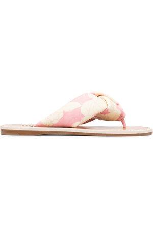 Miu Miu Rose-print sandals
