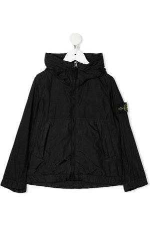 Stone Island Logo-patch hooded jacket
