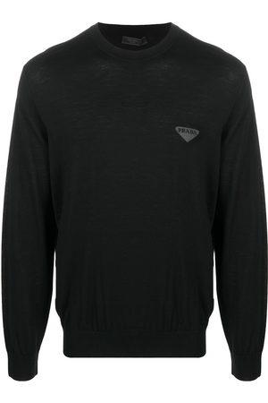 Prada Herren Strickpullover - Logo knitted jumper