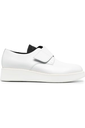 Prada Touch-strap leather derby shoes