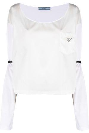 Prada Belt-detail panelled T-shirt