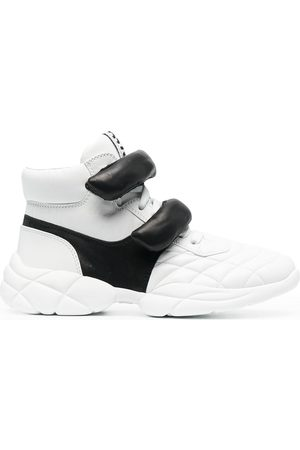 Miu Miu High-top front-strap sneakers