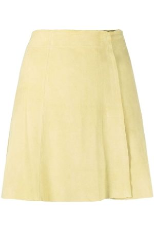 arma leder Suede A-line mini skirt