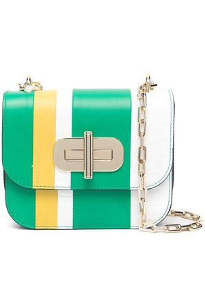 Tommy Hilfiger Striped turnlock mini crossbody bag