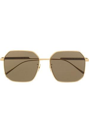 Bottega Veneta Eyewear Square-frame titned sunglasses