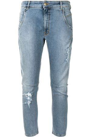 Twin-Set Mid-rise cropped leg jeans