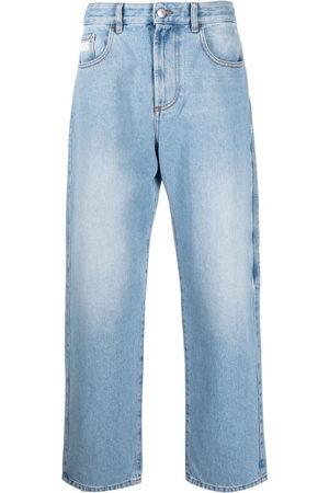 GCDS Herren Straight - Logo-patch straight-leg jeans