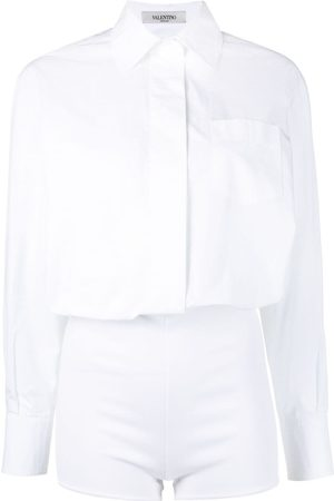 VALENTINO Buttoned shirt playsuit