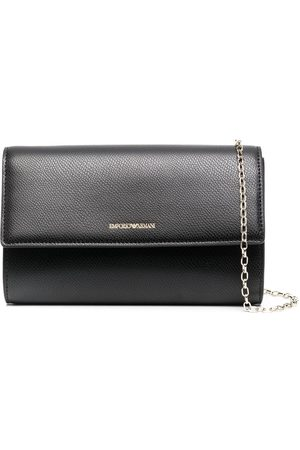 Emporio Armani Grained faux-leather chain-link wallet
