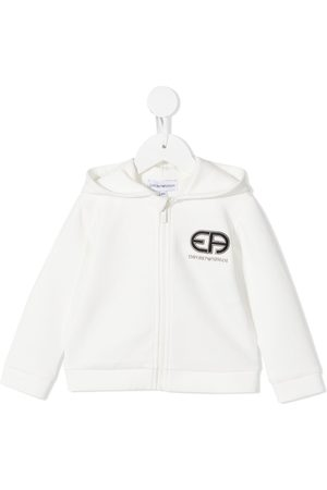 Emporio Armani Embroidered logo zip-up hoodie