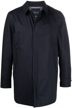 HERNO Classic-collar long-sleeve raincoat