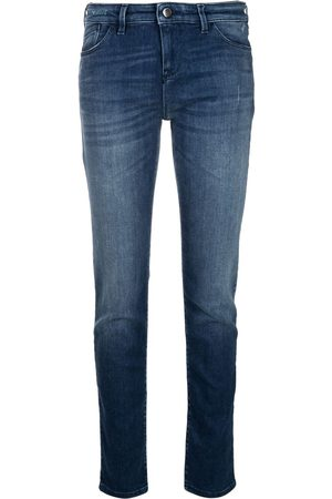 Emporio Armani Damen High Waisted - Low-rise skinny jeans
