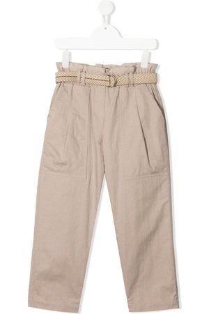 Brunello Cucinelli Mädchen Chinos - Paperbag-waist chino trousers