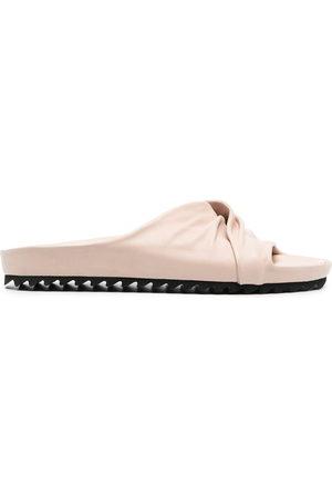 Officine Creative Damen Sandalen - Ruched-detail leather sandals