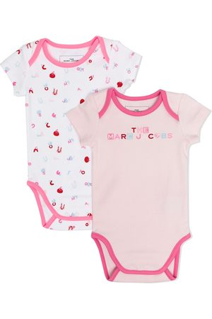 The Marc Jacobs Baby Bodies - Letter-print cotton body set