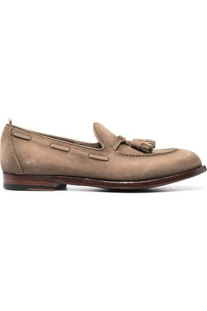 Officine creative Lace-through suede loafers