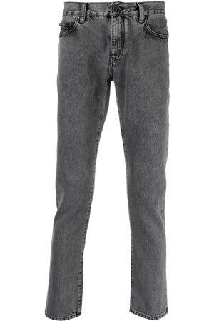 OFF-WHITE Logo-print slim-fit jeans