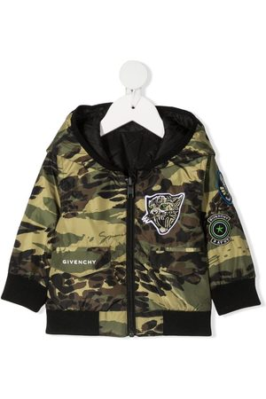 Givenchy Camouflage-print hooded jacket