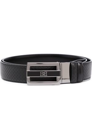 Bally Logo-plaque leather belt