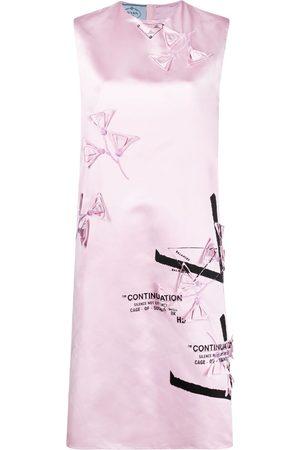 Prada Damen Freizeitkleider - Printed silk shift dress