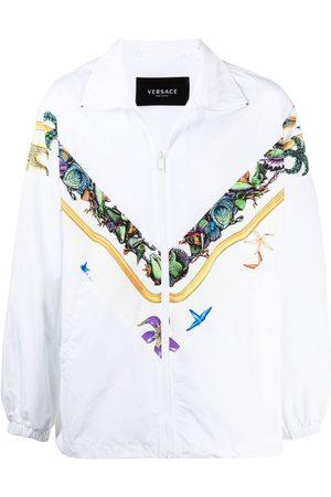 VERSACE Graphic-print windbreaker jacket