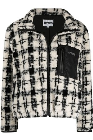 Apparis Kayla houndstooth-pattern bomber jacket