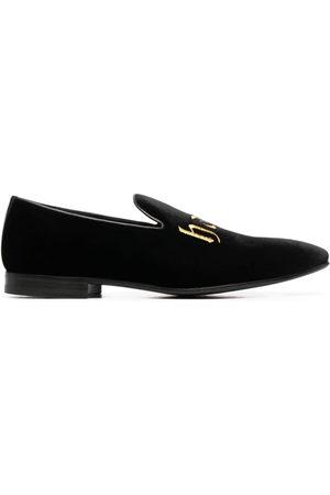 Philipp Plein Embroidered velvet loafers