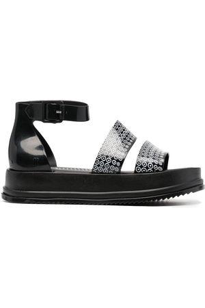 10 CORSO COMO Monogram-print chunky sandals
