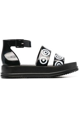 10 CORSO COMO Logo print chunky sandals