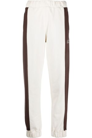 Ganni Logo-embroidered colour-block track pants