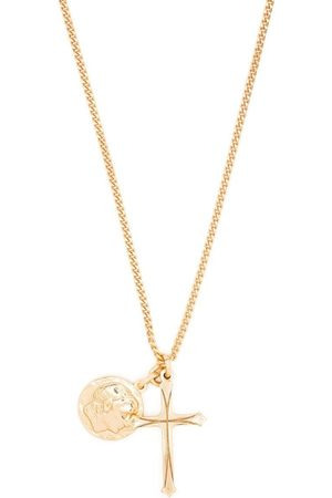 EMANUELE BICOCCHI Coin + cross pendant necklace
