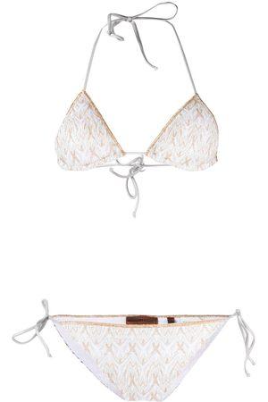 Missoni Metallic threading bikini set